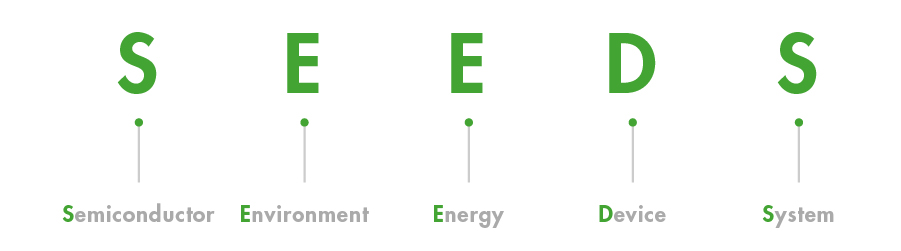SEEDS(S:Semiconductor E:Environment E:Energy D:Device S:System